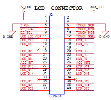 lcd 4 pin wiring diagram 7inch tft display with touch lcd 40 pin wiring diagram